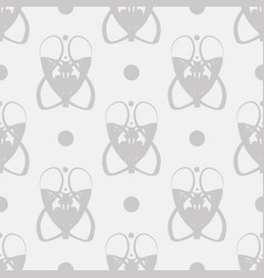 Seamless pattern with abstract art nouveau gray vector