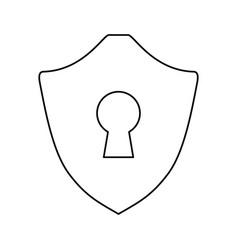 Security shield emblem vector