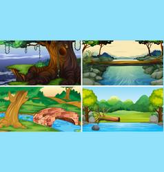 Set jungle scenes vector