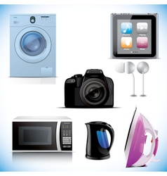 Set of household electronic elements vector image