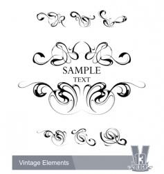 Set of vintage design elements vector