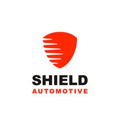Shield secure logo design icon vector