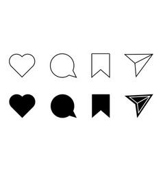 Social media flat icon vector