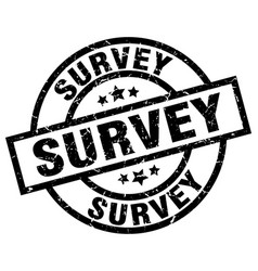 survey round grunge black stamp vector image