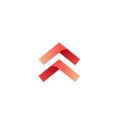 Swipe up arrow logo icon vector