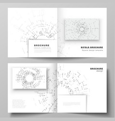 The layout of two cover templates for vector