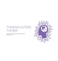 think outside box web banner with copy space vector image