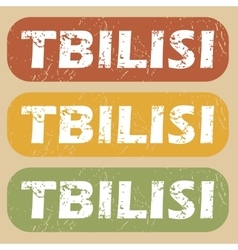 Vintage Tbilisi stamp set vector