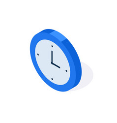 watch isometric flat icon 3d stopwatch timer vector image