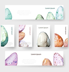 Watercolor Easter holiday cards tags banners set vector image vector image