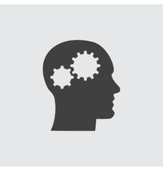 Head and gear icon vector image