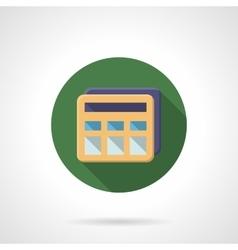 Modern flat style calculator icon vector image