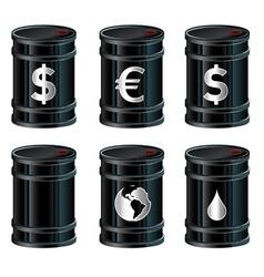 oil drum vector image vector image