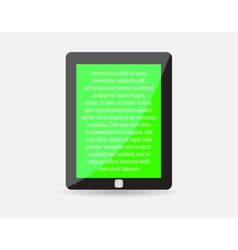 Realistic black touch-pad icon Tablet PC vector image