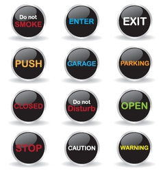 Signs button vector image