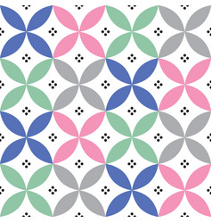 Geometric seamless pattern in pastel colours vector