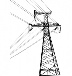 high voltage electric line vector image vector image