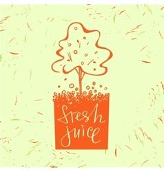 Logo symbol for fresh juice Fruit tree Orange vector image vector image