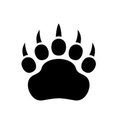 Paw Black Print Icon on White Background vector image