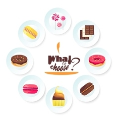 Set of delicious desserts Can be used for a vector image