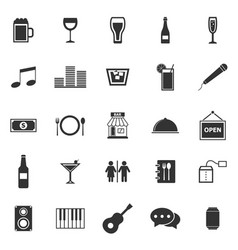Bar icons on white background vector