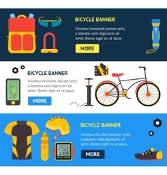 Bicycle and Accessories Banner vector image vector image