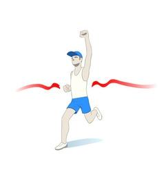 fastest runner vector image