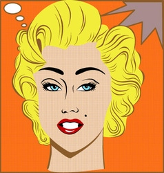 Marilyn Monroe vector image vector image