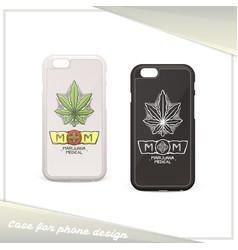 medical marijuana case two vector image vector image