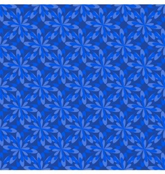 seamless stylized blue flowers vector image