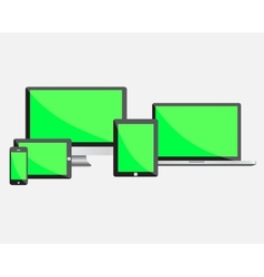Ultimate web design electronic devices with empty vector image vector image