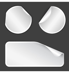white label badges vector image vector image