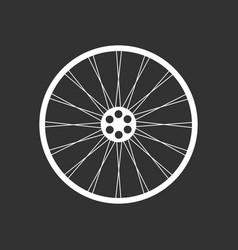 bicycle wheel icon vector image vector image
