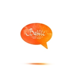 Colorful watercolor speech bubble vector image vector image
