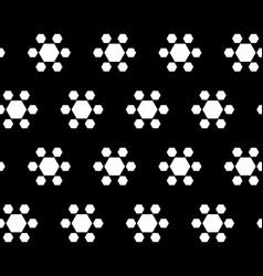 seamless pattern geometric hexagonal flowers vector image vector image
