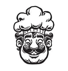 smiling chef cartoon vector image vector image