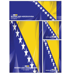 abstract bosnia and herzegovina flag background vector image