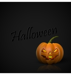 alloween Pumpkin Jack Lantern vector image