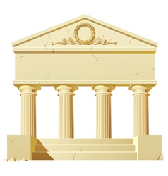 Antique building vector image