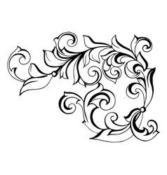 Antique style acanthus vector