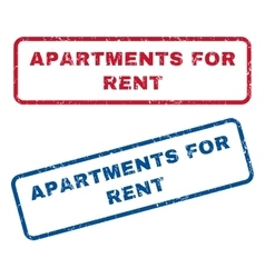 Apartments For Rent Rubber Stamps vector