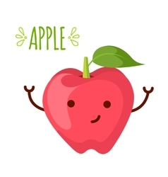 Apple cartoon character vector