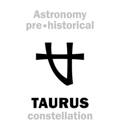 Astrology taurus ancient pre-historical vector