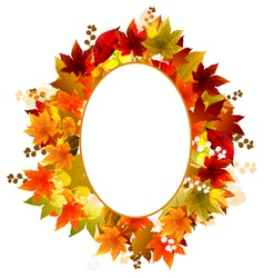Autumn Leaves Frames vector image