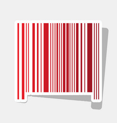 bar code sign new year reddish icon with vector image