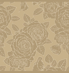 beautiful golden vintage retro seamless pattern vector image