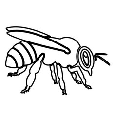 Bee icon black color flat style simple image vector