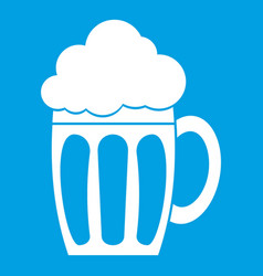 Beer icon white vector