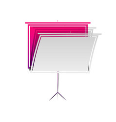 Blank projection screen detachable paper vector