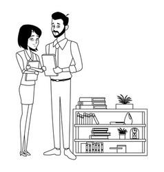 Business coworker conversation vector